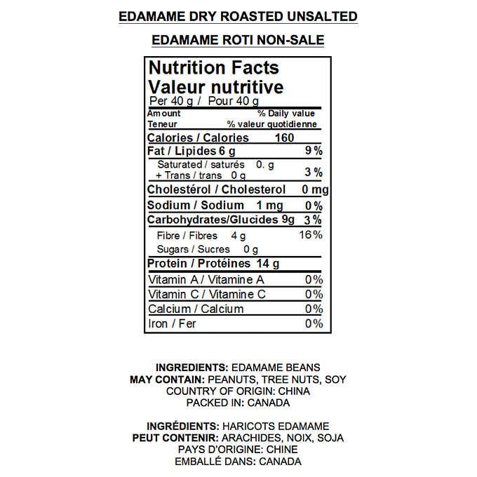 Yupik Dry Roasted and Unsalted Edamame